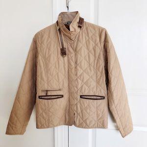 Ralph Lauren Quilted Jacket Equestrian Tan